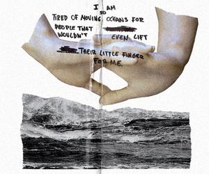 art, ocean, and people image