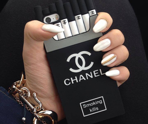 chanel, fashion, and cigarettes image