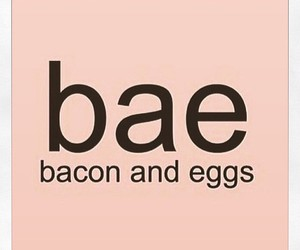 bae, food, and bacon image