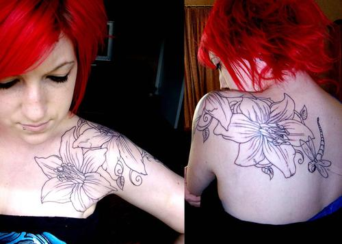 lily and tattoo image