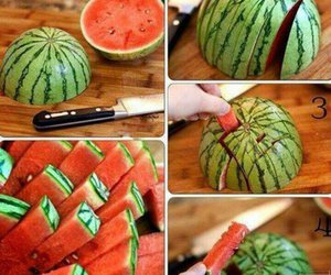 watermelon, diy, and fruit image