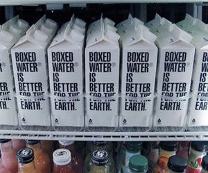 water, boxed water, and earth image