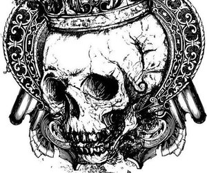 crown, tattoo, and design image