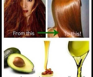 hair, diy, and avocado image