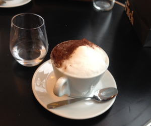 cafe, capuccino, and coffee image