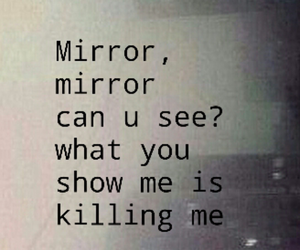 mirror and sad image