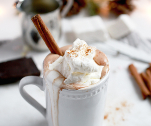 chocolate, food, and hot ​chocolate image
