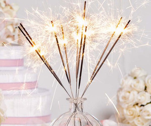 light, fireworks, and pink image