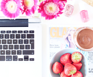 laptop and strawberry image