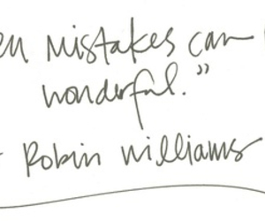 quote, mistakes, and robin williams image
