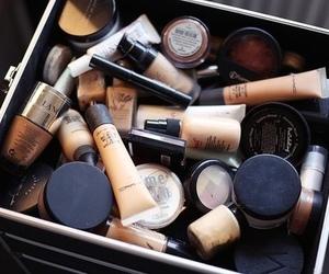 make up, makeup, and chanel image