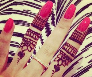nails, henna, and ring image