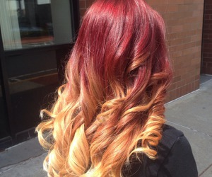 hair, red hair, and style image