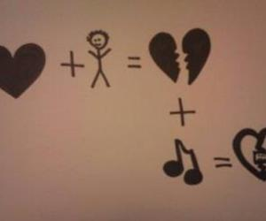 broken heart and music image