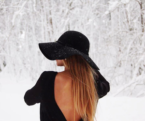 black, fashion, and snow image