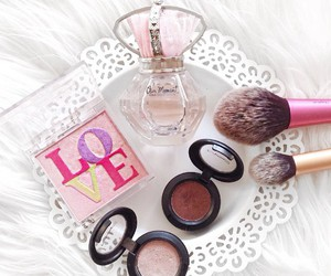 flowers, makeup, and vanity image