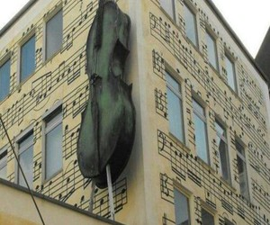 building, music, and violin image