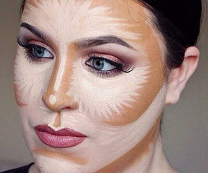 beauty, contour, and eyeliner image