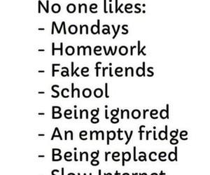 monday, school, and homework image
