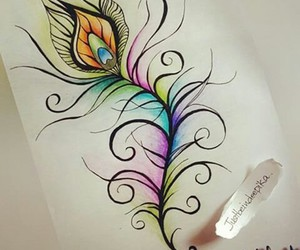 black, colorful, and draw image