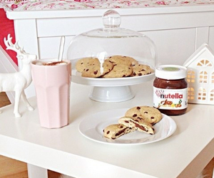 Cookies, girl, and nutella image