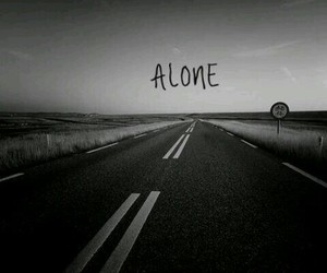 alone, bad, and black image