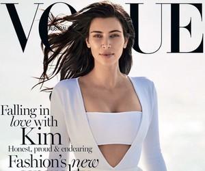 kim kardashian, vogue, and vogue australia image