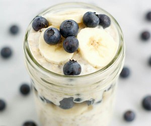 blueberry, banana, and food image