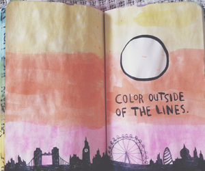 book, city, and colour image