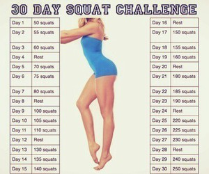 squats, fitness, and 30 days image