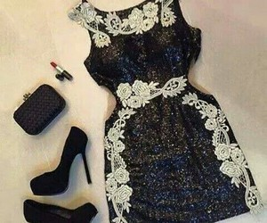 dress, black, and shoes image