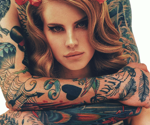 lana del rey, tattoo, and lana image