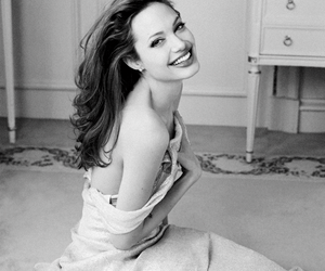 Angelina Jolie, black and white, and photoshoot image