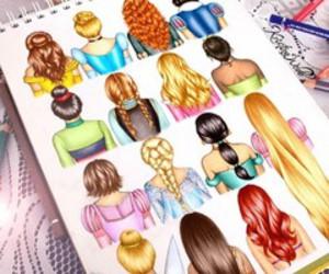 hair, princess, and disney image