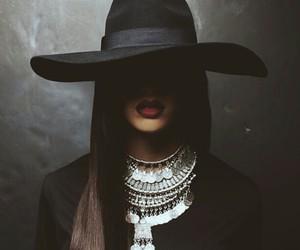 black, hat, and rihanna image