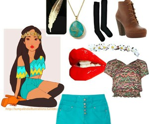 disney, hipster, and pocahontas image