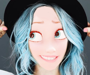 blue hair, disney, and edit image