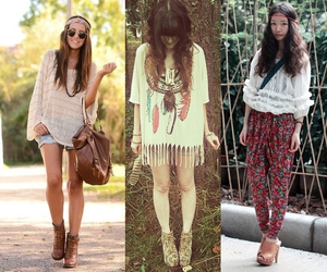clothes, boho chic, and clothing image