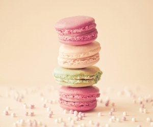 beads, creme, and macaroons image
