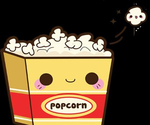 kawaii and popcorn image