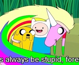 adventure time, stupid, and friends image