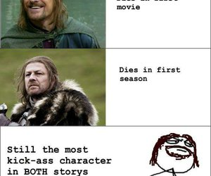 sean bean, game of thrones, and LOTR image