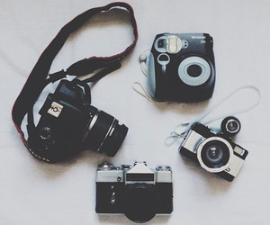 camera, vintage, and black image
