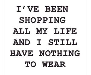shopping, life, and nothing image