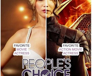 Jennifer Lawrence and the hunger games image