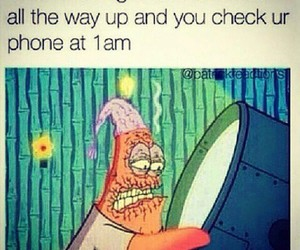 funny, patrick, and phone image