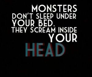 monster, head, and scream image