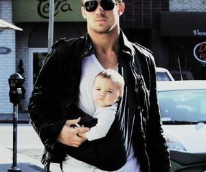 baby, dad, and cam gigandet image
