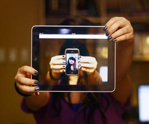 girl, photography, and ipad image