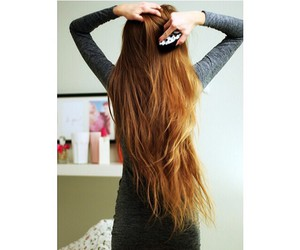 girl, hair, and love image